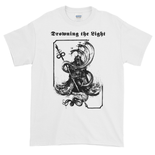"Image of Drowning the Light - ""With Fire & Brimstone"" shirt"