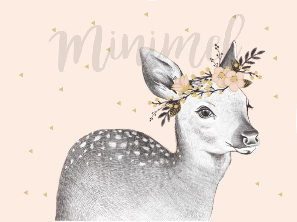 Image of Affiche Faon Rose / Pink Fawn poster