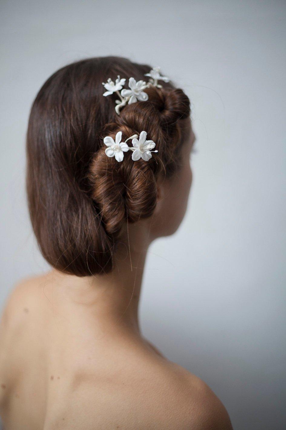 Image of Fleurs d'oranger épingles à cheveux