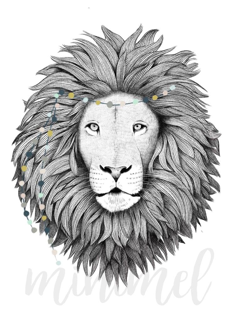 Image of Affiche Lion A3 / Lion A3 poster
