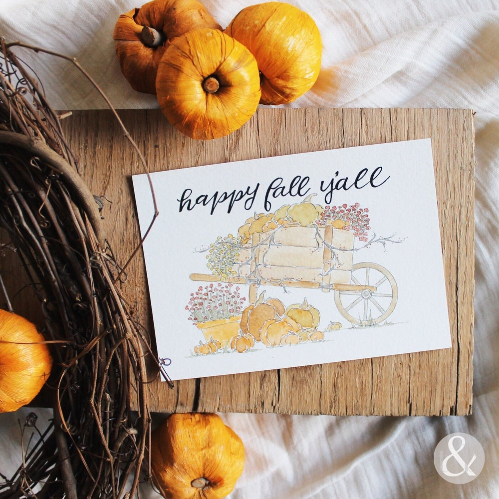 Image of Happy Fall Y'all - Print