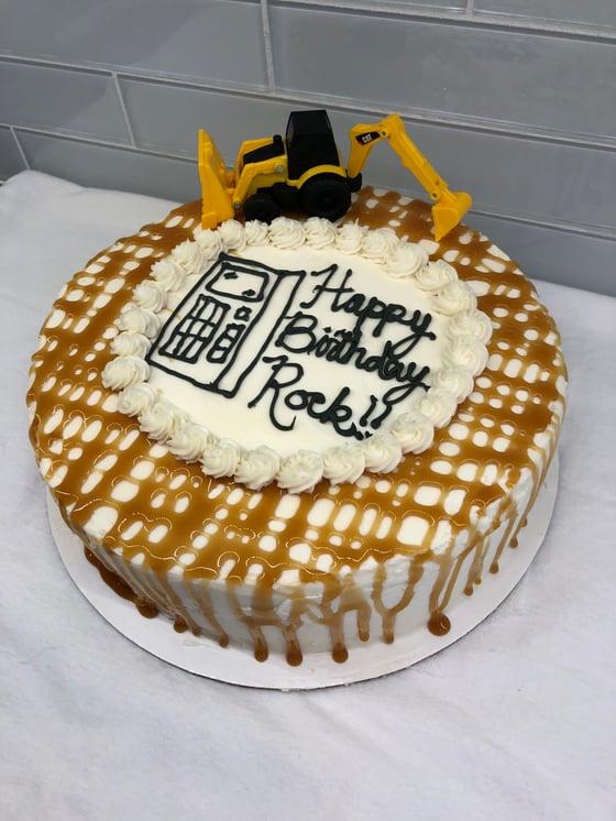 Image Of Rocks Birthday Ice Cream Cake