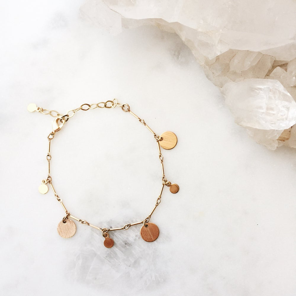 Image of Coin Charm Bracelet