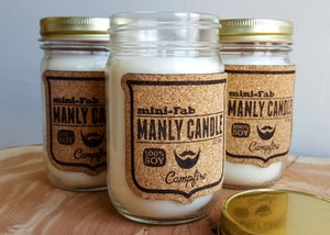 Image of Manly Candle - Cognac & Cubans Scented Natural Soy Man Candle Hand Poured with Cotton Wick
