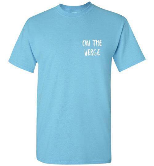 Image of On The Verge Logo Tee BLUE
