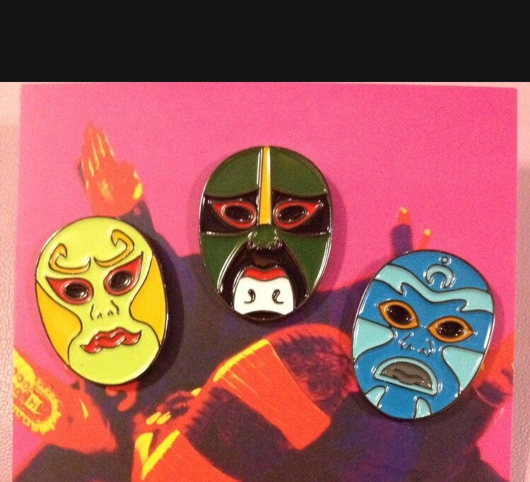 Image of Los 3 Ninjas Lapel Pin Set