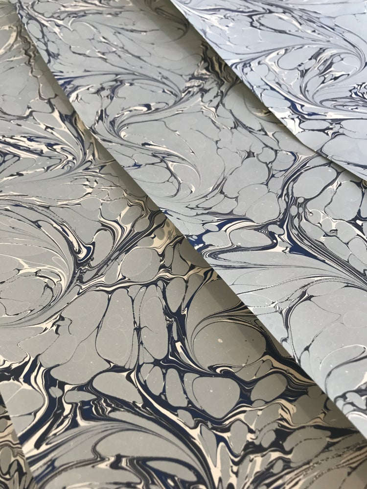 Image of Marbled Paper #31 'Eau de Nil' Contemporary Design.