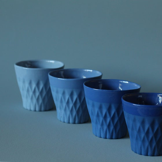 Image of CRYSTAL PALACE porcelain cup X4 Indigo Collection