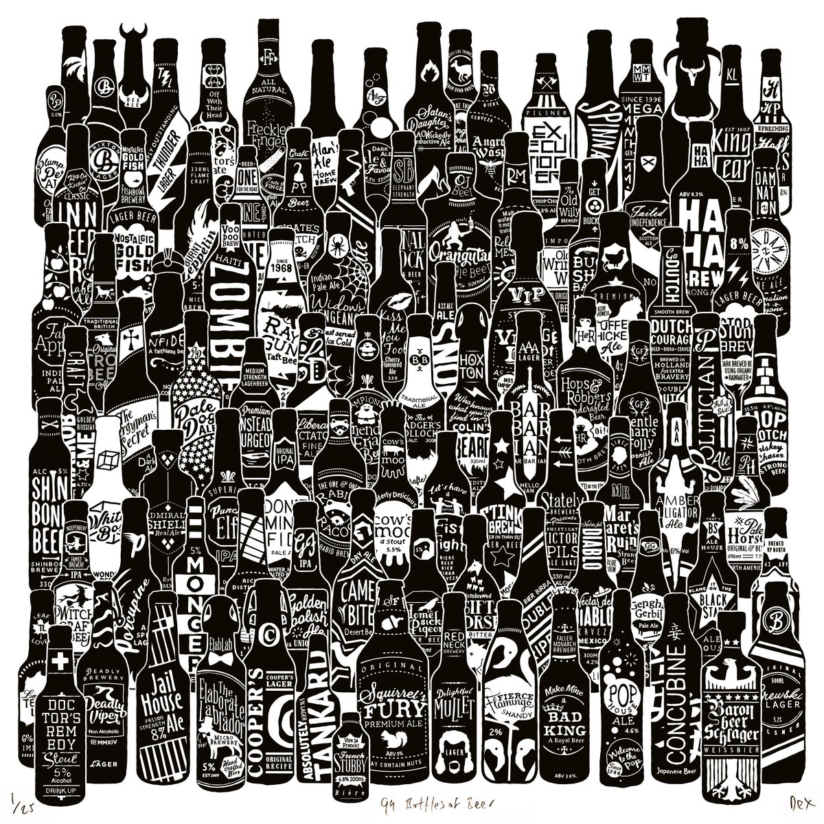 Image of 99 Bottles (Square)