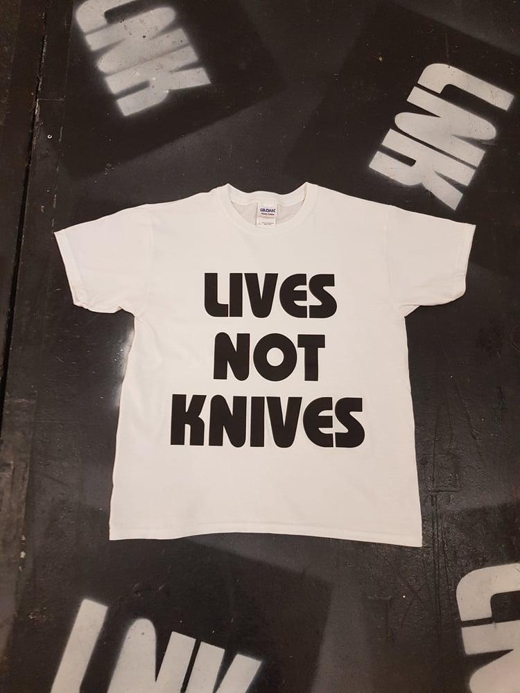 Image of Lives Not Knives - White/ Black