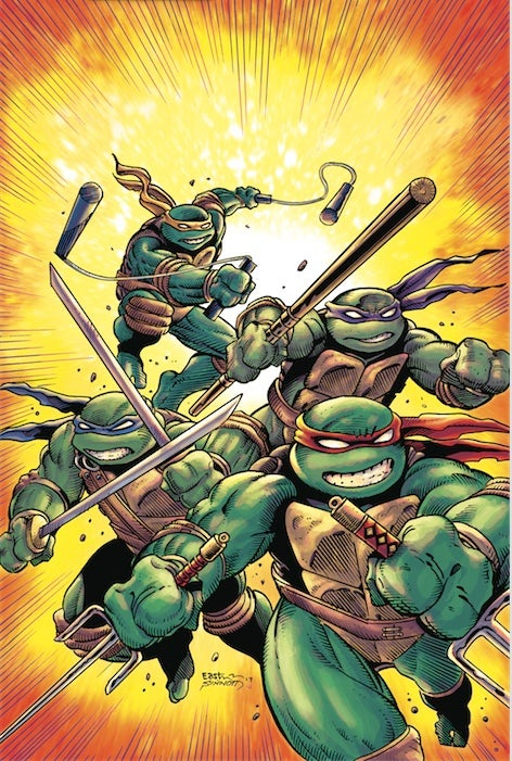 Image of Teenage Mutant Ninja Turtles #75 Kevin Eastman/Joe Sinnott Exclusive Color Virgin Variant