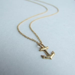 Image of Anchors Aweigh - TIny Gold-filled Anchor