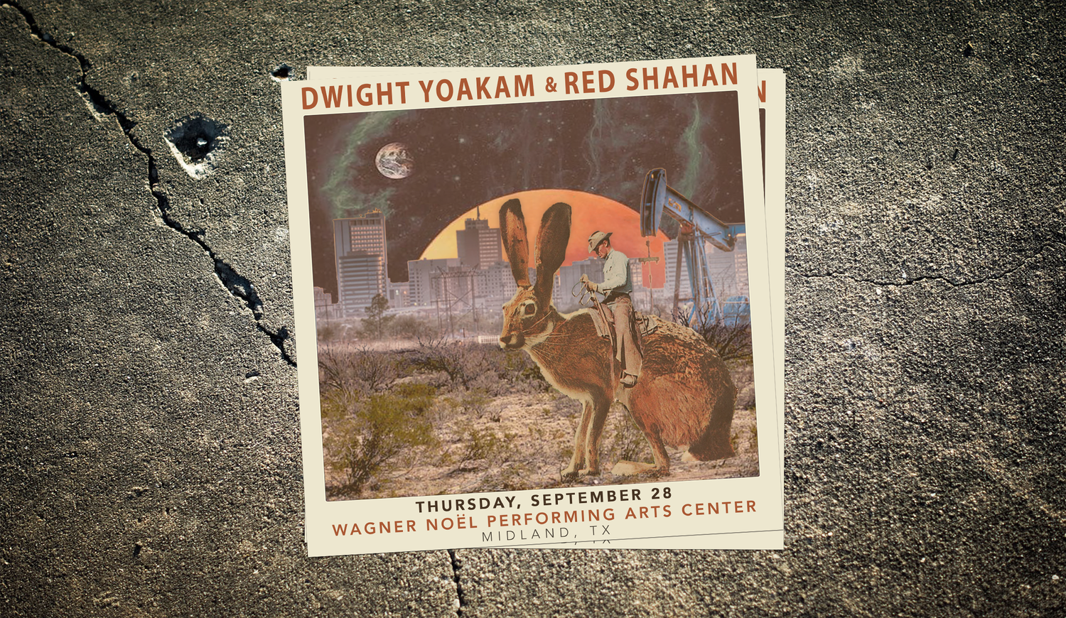 """Image of Red Shahan + Dwight Yoakam 10x10"""" Poster"""
