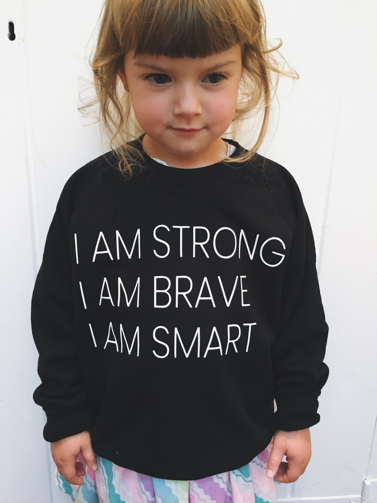 Image of Strong, Brave, Smart kids sweater