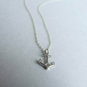 Image of Anchors Aweigh - Tiny Sterling Silver Anchor