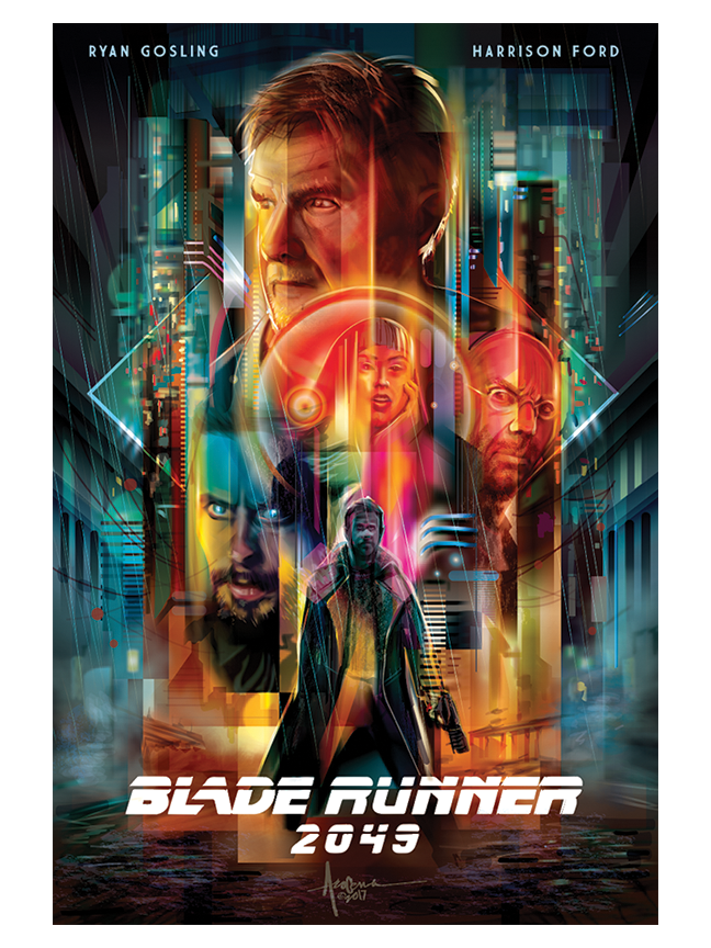"Image of BLADE RUNNER 2049 - 18""x24""- edition of 50 - 2017"