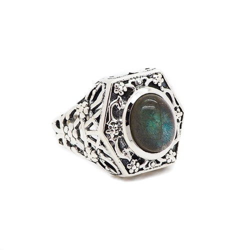 Image of Sterling Silver & Labradorite Witches' Brew Ring