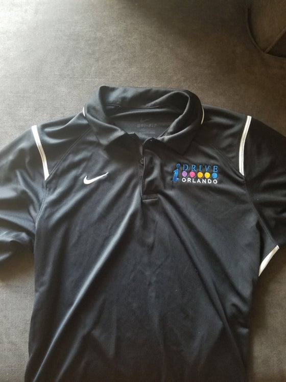 Image of Black Nike I-Drive Orlando Polo Shirt