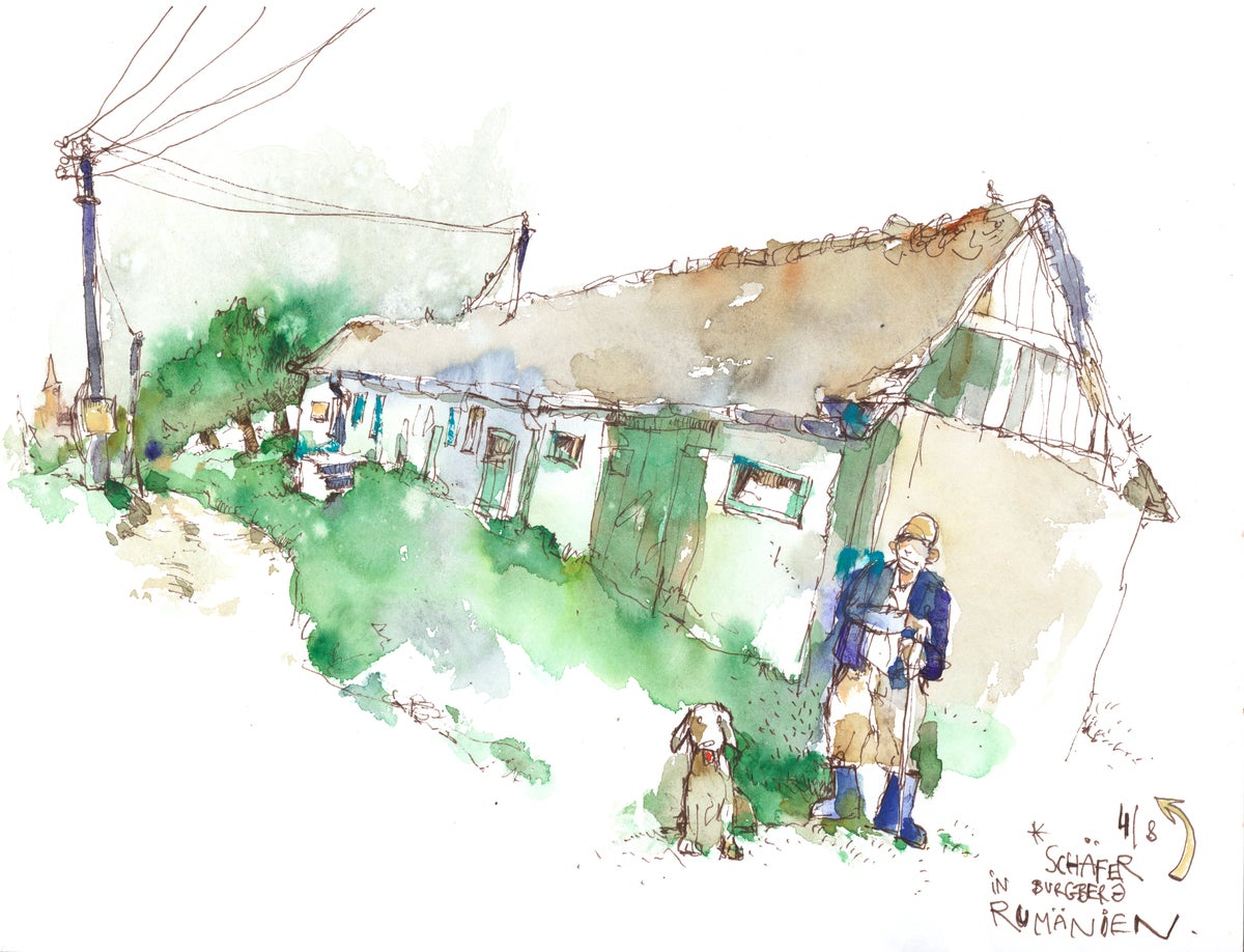 Image of Urban watercolor sketching  / Wasserfarbe für Gestalter / Page 123