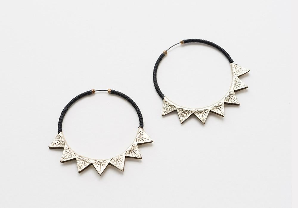 Image of Triangle Burst Hoops (Large)