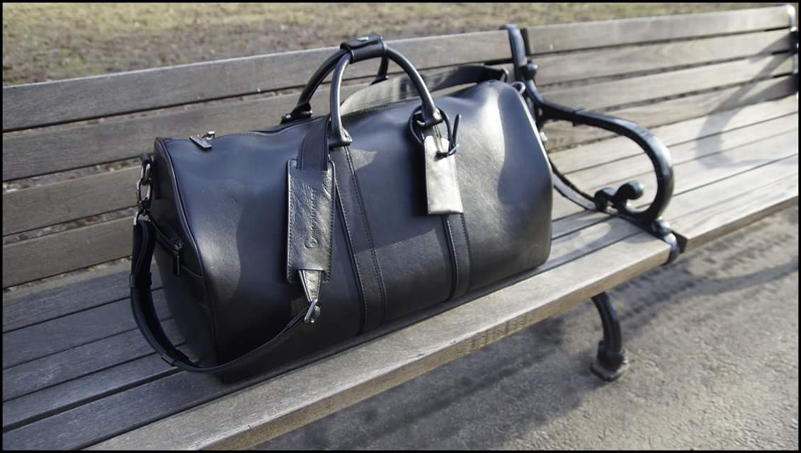 Image of The Executive Black ❼™ - Men's Italian Leather Duffle
