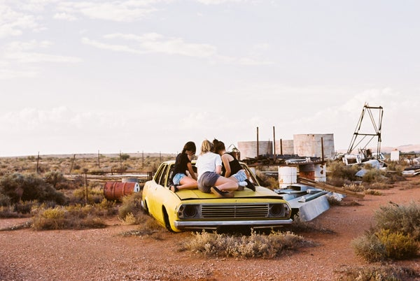 Image of Jannah and her friends hang out after school in Broken Hill, New South Wales