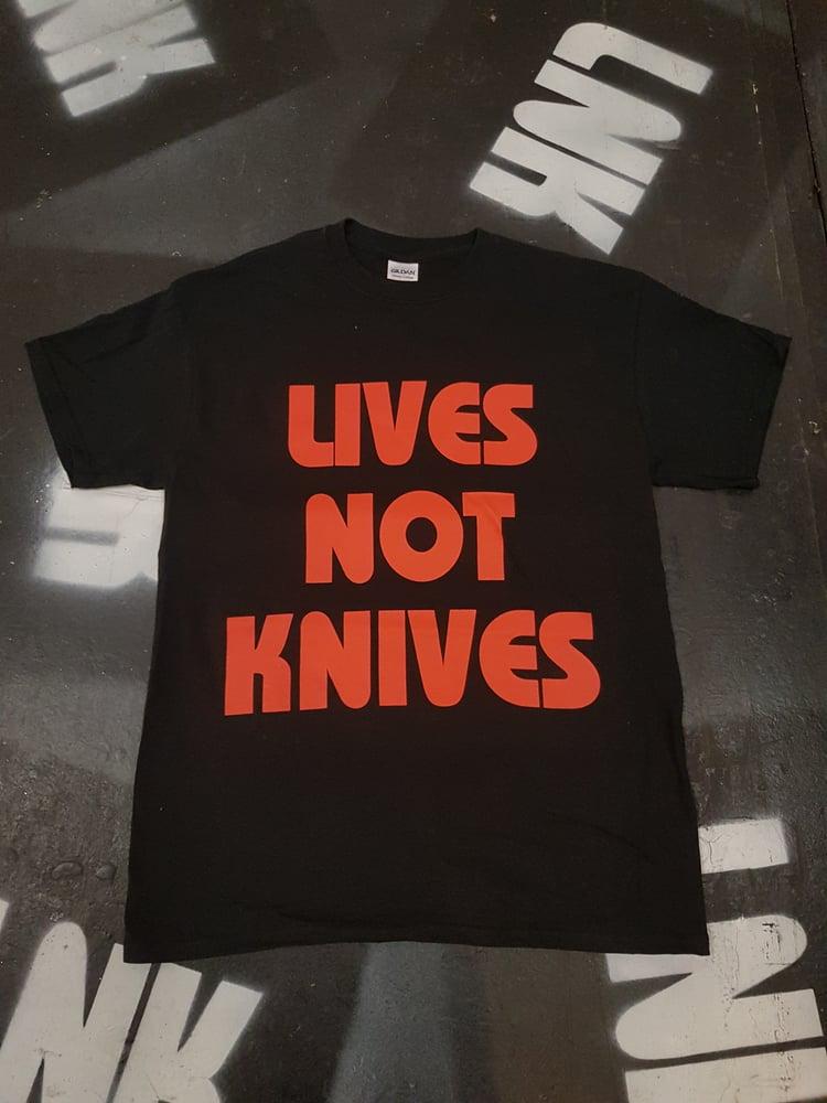 Image of Lives Not Knives - Black/Red