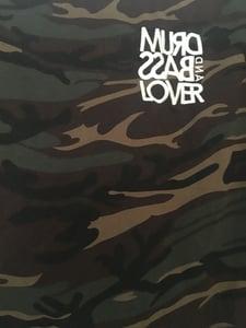 Image of Camo Stitched Font T Shirt