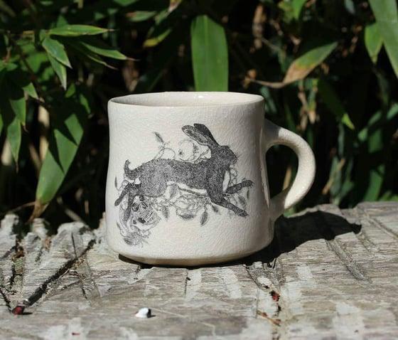 Image of Brambles, Rowan and The Hare ceramic mug.