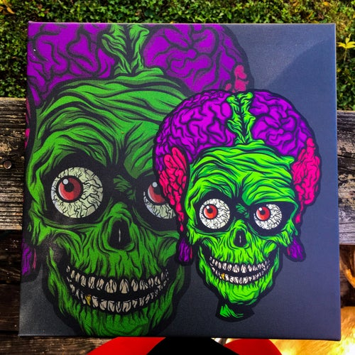 "Image of *PREORDER* 12x12 ""Ack Ack"" Canvas"