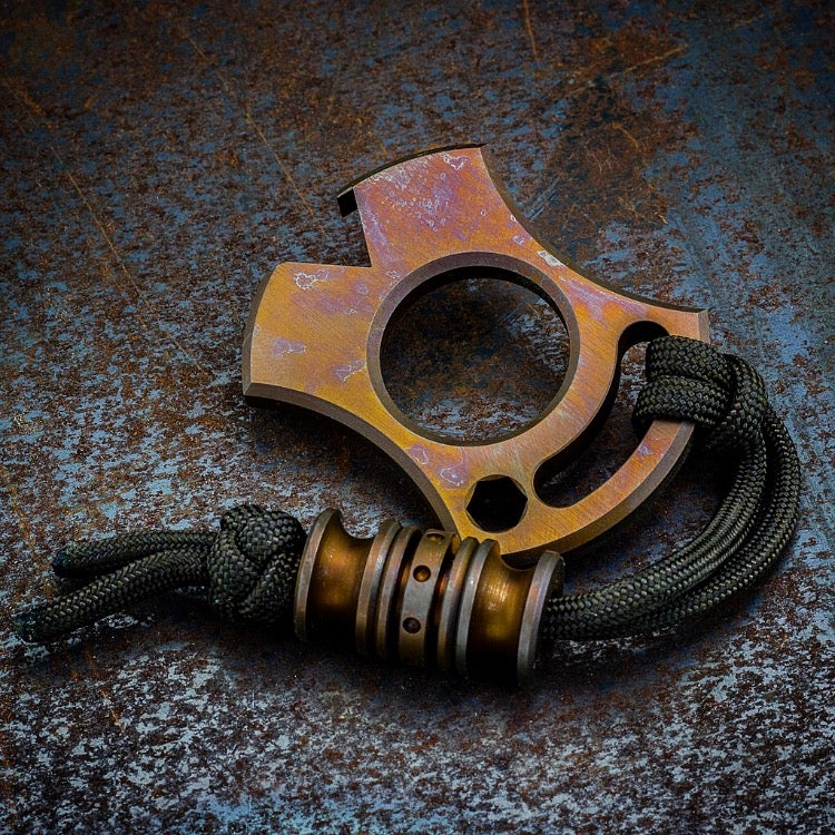 Image of Slim VonKnuck & Triple Modular bead set Combo in Dirty Old Bronze