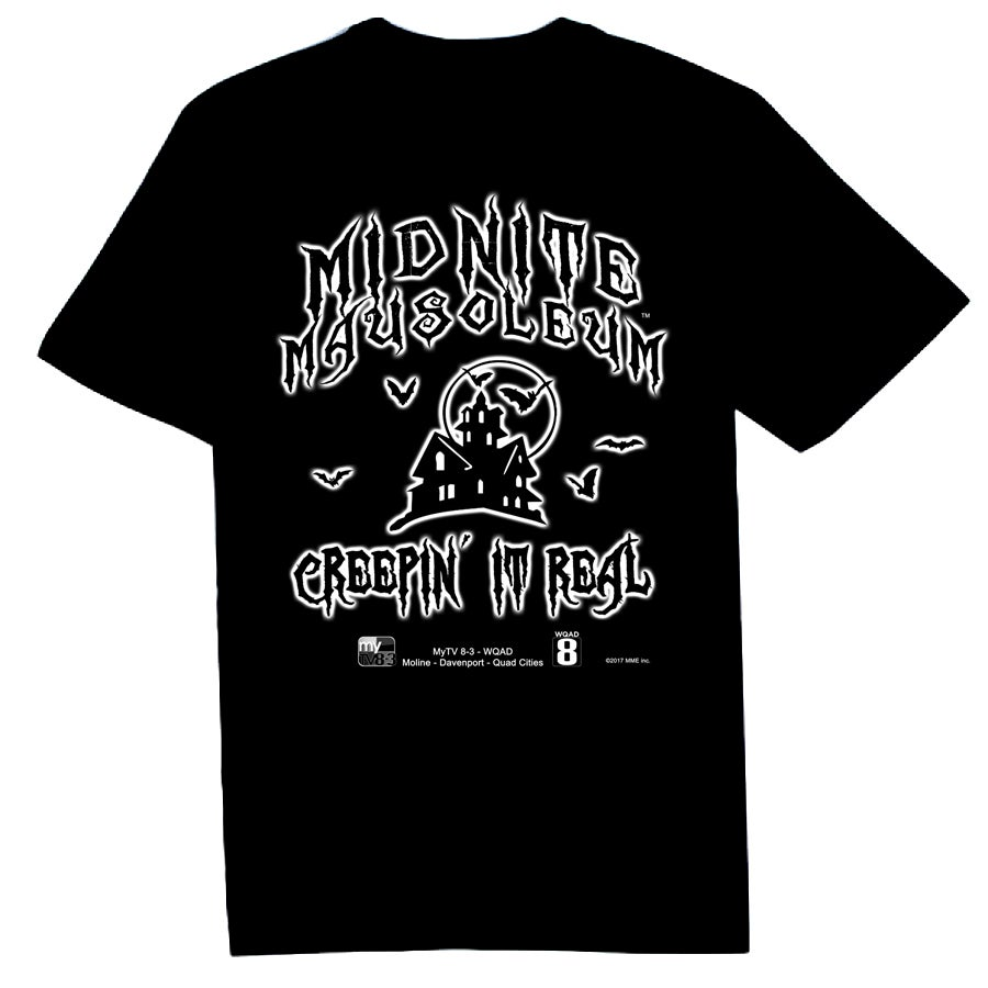Image of Midnite Mausoleum -  Glow In The Dark Logo Tee 2017