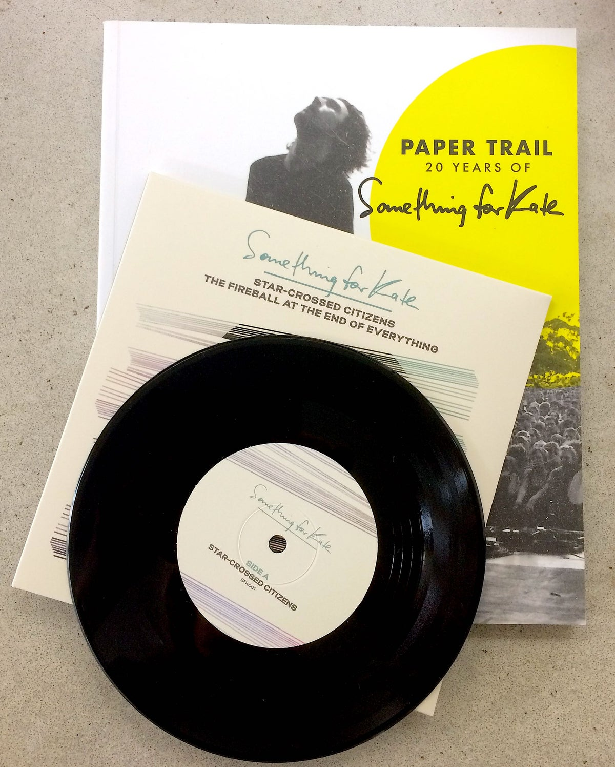 "Image of Paper Trail book + Star Crossed Citizens 7"" offer"
