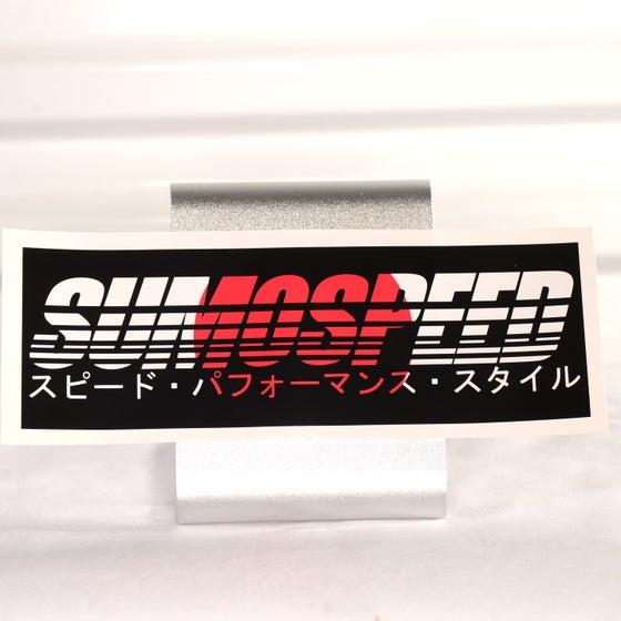 "Image of Sumospeed ""Flag"" series printed slap stickers 9"" x 3"""
