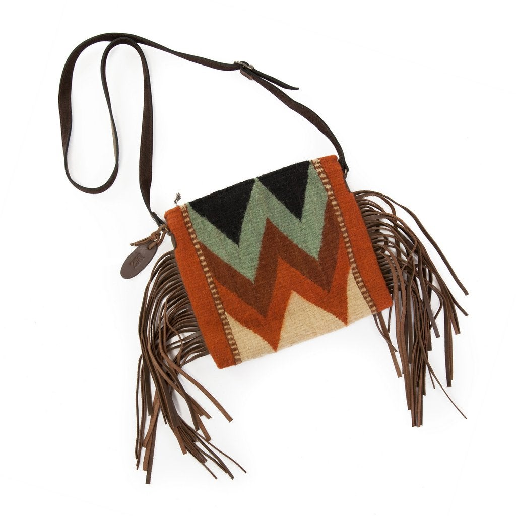 Image of Mountain Chevron Palomita Fringe Bag