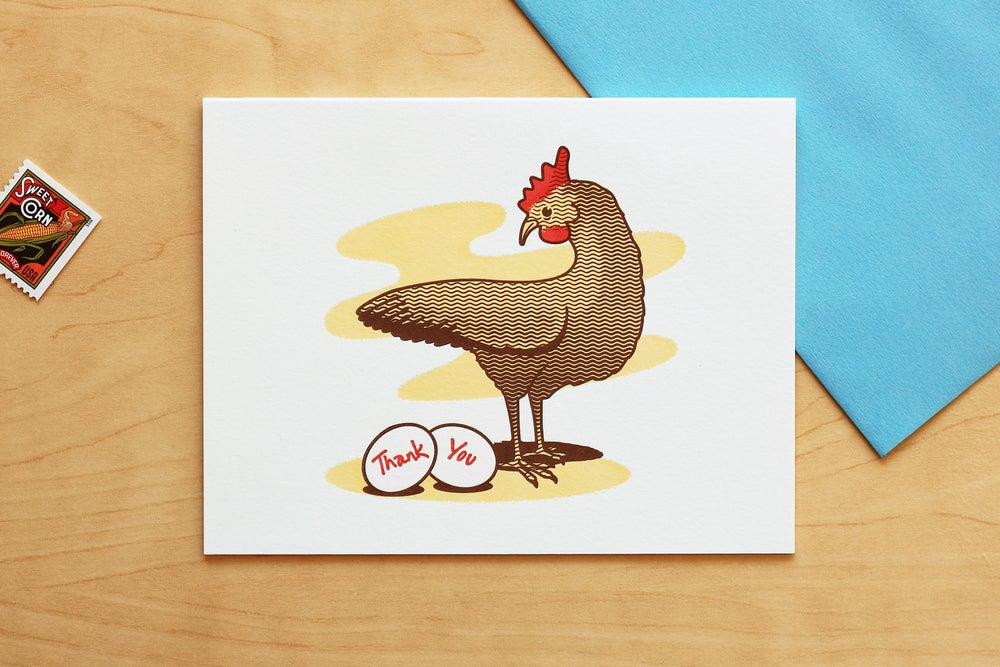 "Image of Chicken ""Thank You"" Card"