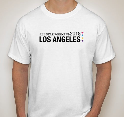 Image of NBA All-Star Weekend 2018 Los Angeles White T-Shirt