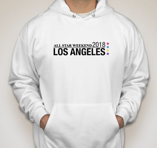 Image of NBA All-Star Weekend 2018 Los Angeles White Hoodie