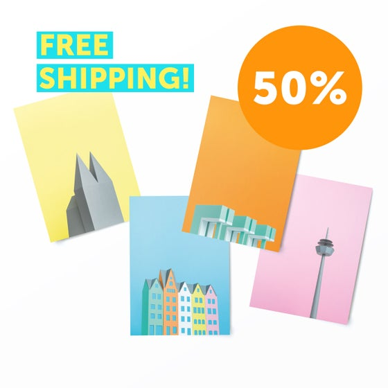 "Image of Postcard Set ""Cologne"" (8 pcs)  - SALE !! 50% !!"