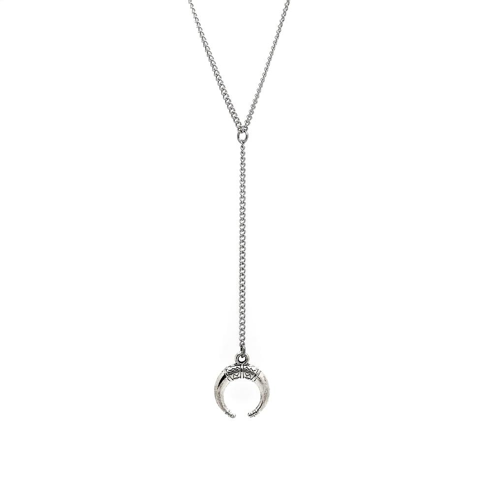 Image of Boho Moon Lariat Necklace