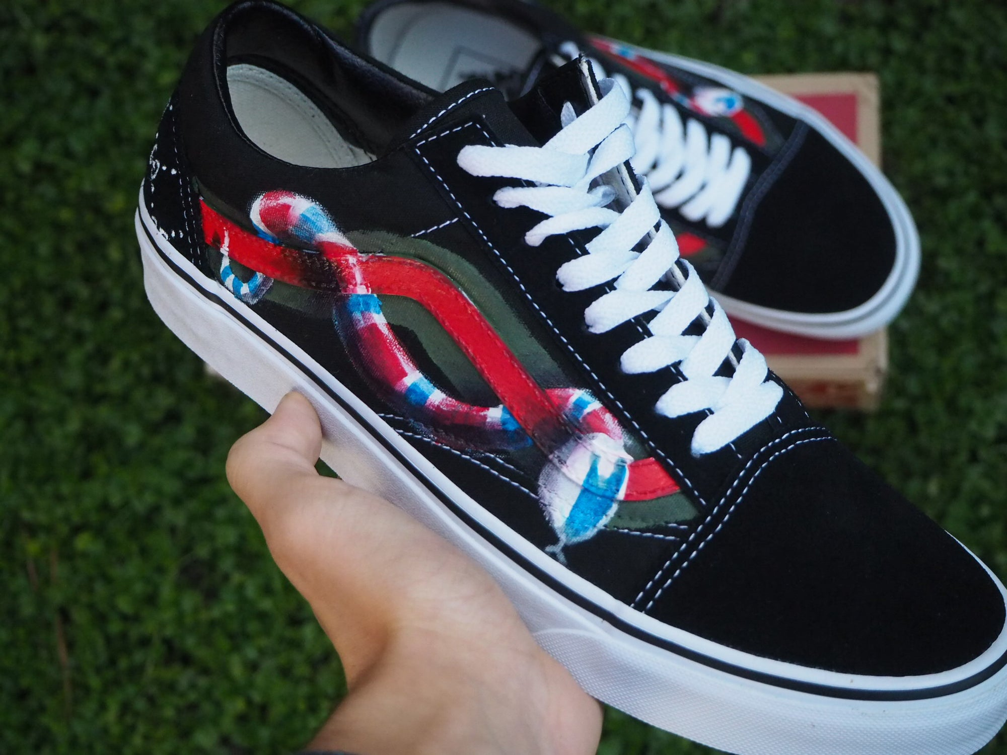 459df7faf32 Image of VANS OLD SKOOL X GUCCI SNAKE