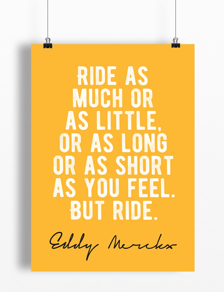 Image of Eddy Merckx quote print - A4 or A3