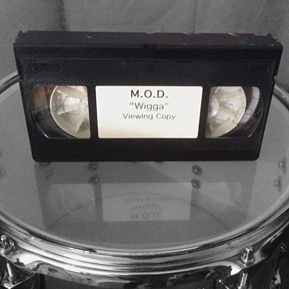 """Image of Nuclear Blast M.O.D. """"Wigga"""" VHS viewing copy."""