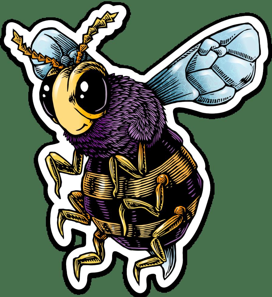 Image of Bee Vinyl Sticker