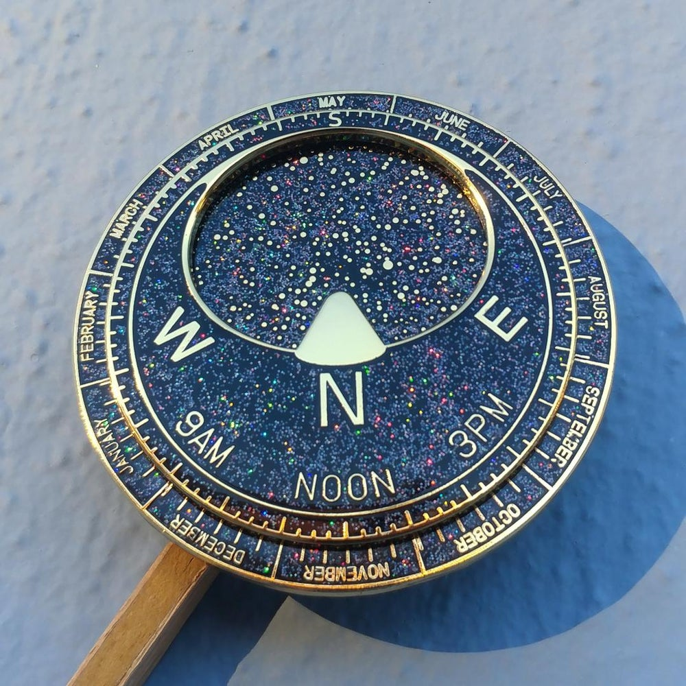 Image of Holographic Glitter Planisphere Pin
