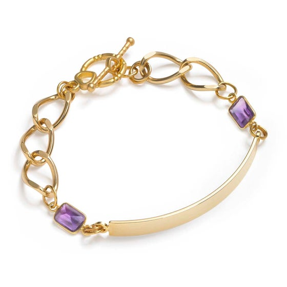 Image of MARBELLA GOLD BAR BRACELET