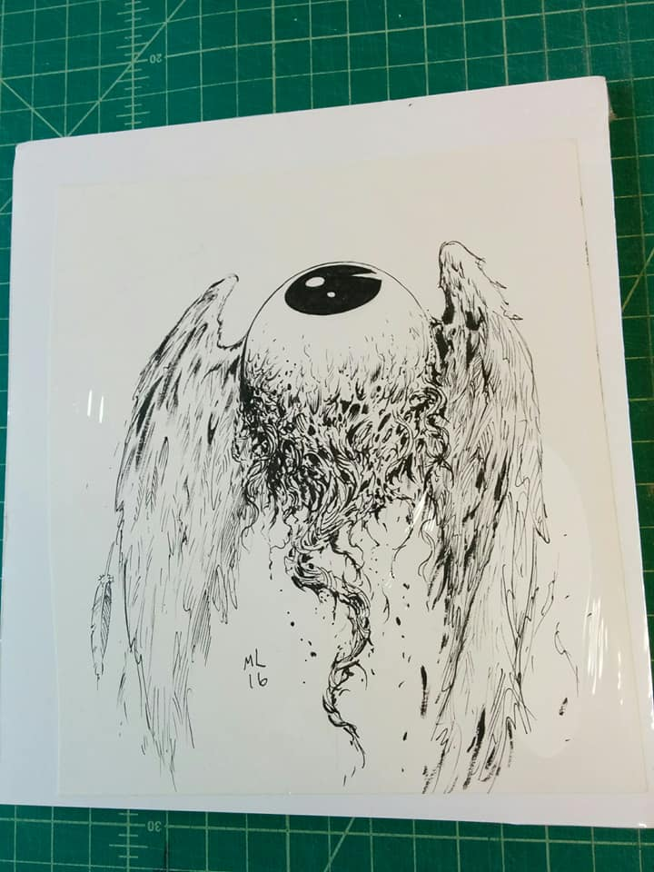 Image of EYEBALL inked art