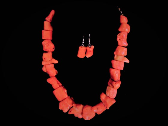 Image of Coral Necklace Set