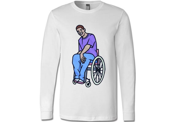 Image of Wheelchair Jimmy Unisex Long Sleeve T-shirt