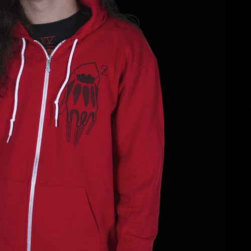 Image of THE DEVIL HOODIE RED
